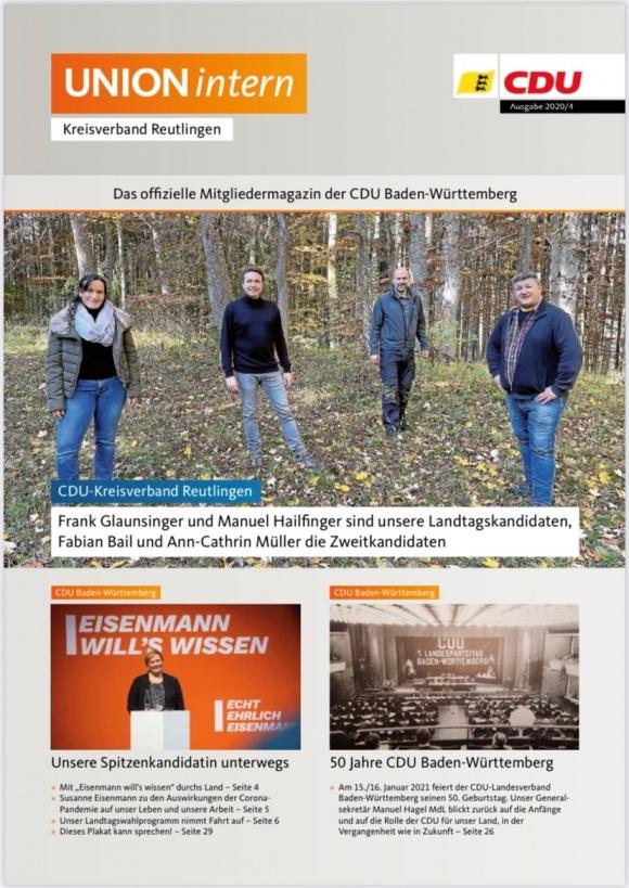CDU Intern - Ausgabe 4 / 2020